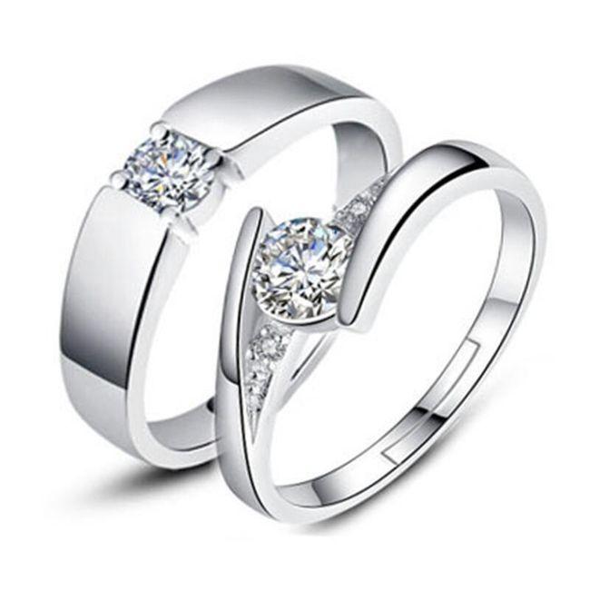 Poročni ali zaročni prstani za par - 4 različice 1