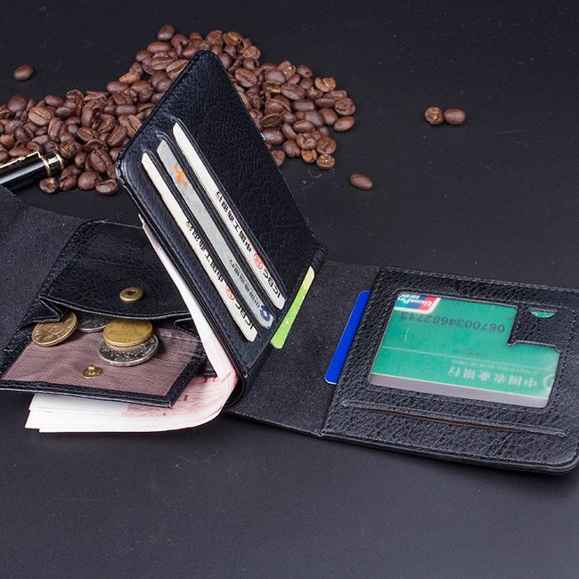 Műbőr pénztárca férfiaknak - 2 x 9 x 12 5 cm