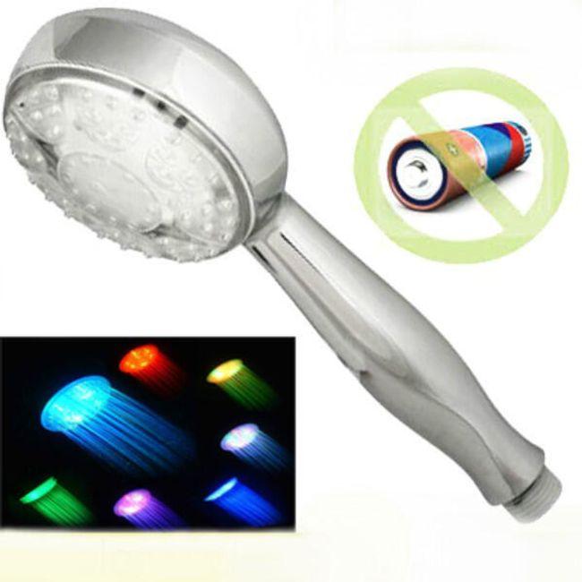 Sprchová LED hlavice s automatickým střídáním barev 1
