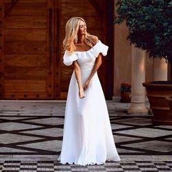 Dolga obleka v beli barvi - 4 velikosti velikost št. 4