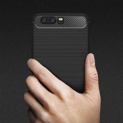 Szilikon hátlap szénszálas mintával a Huawei P10 / P10 Plus készülékhez