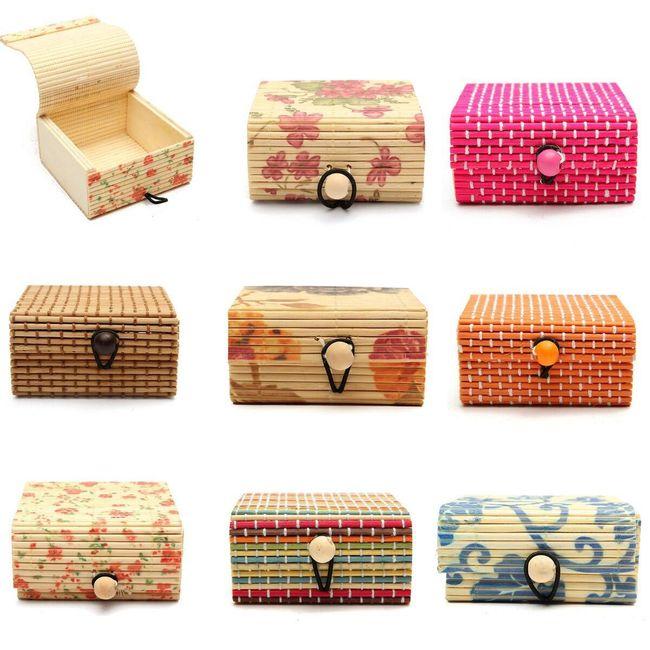 Cutie de bijuterii din lemn de bambus 15