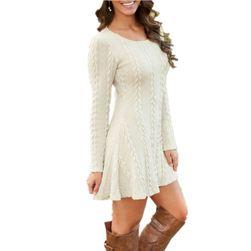 Платье с длинным рукавом, размеров плюс