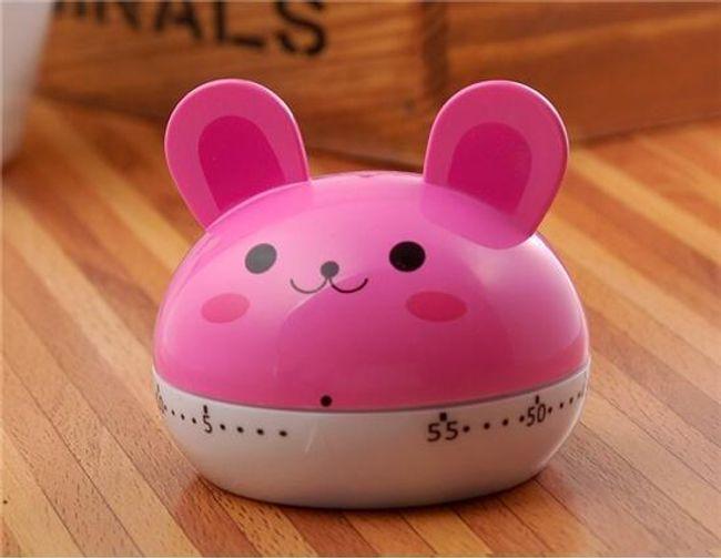 Kuchyňská minutka - růžový králíček 1