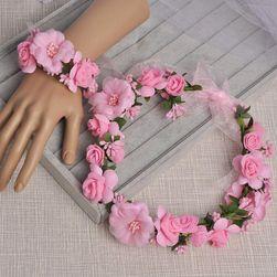 Wieniec z kwiatów i  bransoletka