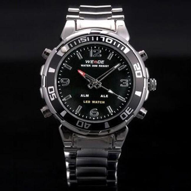 Męski zegarek z funkcją dwóch czasów 1