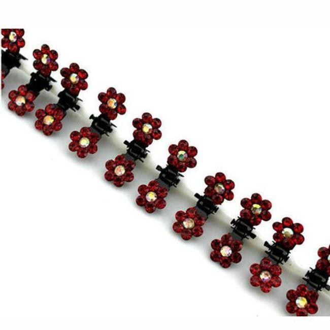 12 kusů květinových skřipečků - 7 barev 1