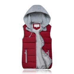 Dámska vesta s kapucňou - 10 farieb Vínová-veľkosť č. 7