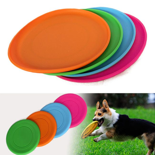 Barevný silikonový létající talíř pro psy 1