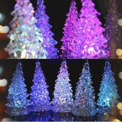 Színes karácsonyi LED-fa
