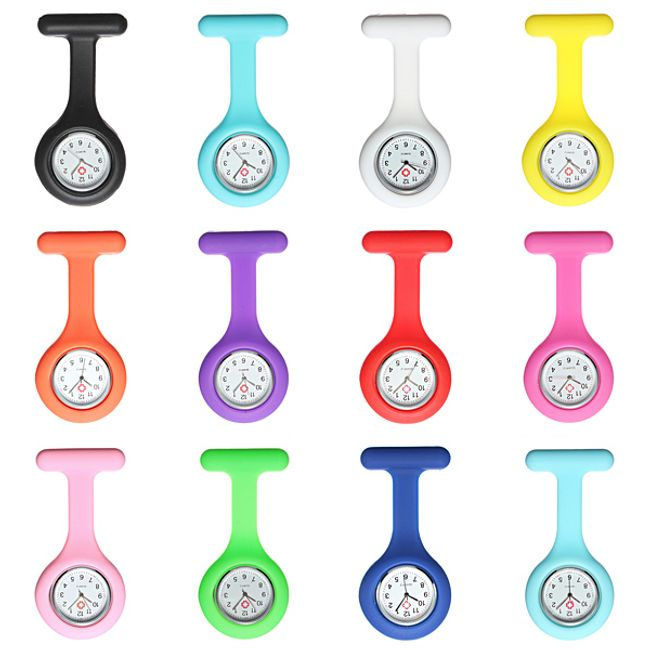 Silikonové kapesní hodinky, 12 barev 1