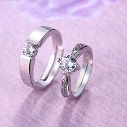 Eljegyzési gyűrű ezüst - 2 db