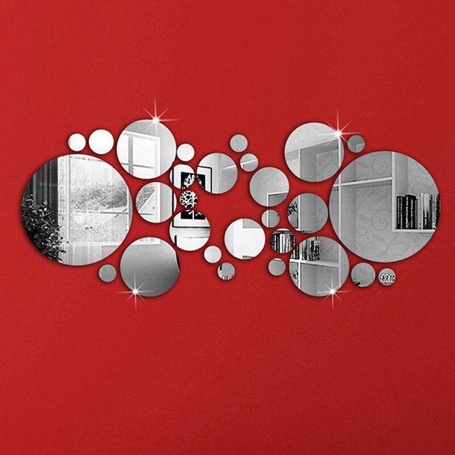 Зеркальная наклейка на стену - Круги 1