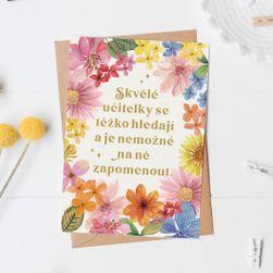 Voščilnica s kuverto Barvit travnik - Odlični učitelji SR_DS23615484