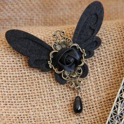 Broš sa krilima i ružom