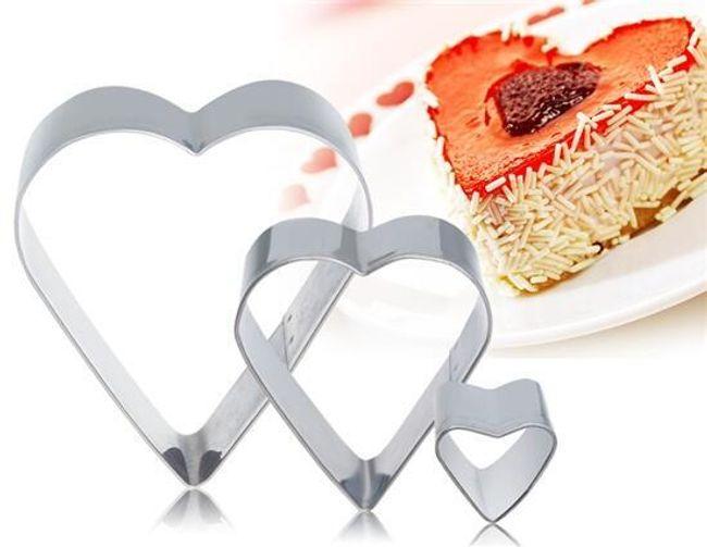 Forma na tort - trzy sztuki serduszek 1