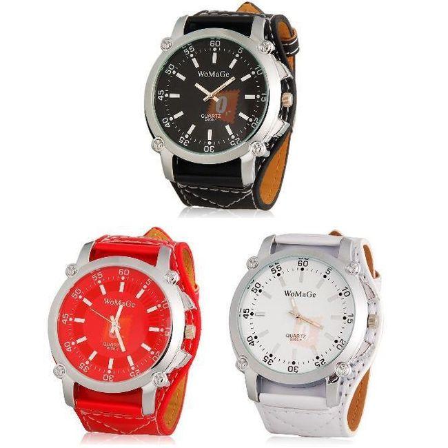 Sportovně elegantní hodinky ve třech barvách - unisex 1