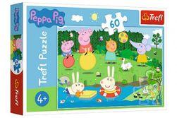 Puzzle Prasátko Peppa/Peppa Pig Prázdninová zábava 33x22cm 60 dílků v krabičce 21x14x4cm RM_89117326