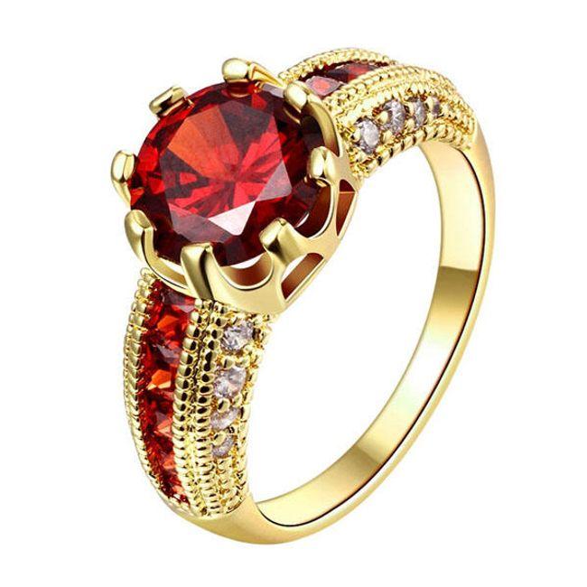 Ženski prstan z razkošnim videzom - mešanica barv 1