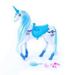Синьо-бял кон със звуци и светлини RZ_199354