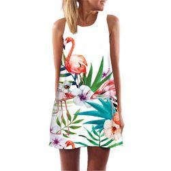 Volné mini šaty s veselým potiskem - yh01309-velikost č. 3