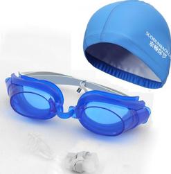Sada plaveckých brýlí a čepice pro muže i ženy