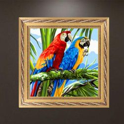 Obraz krzemienia 5D DYI - Ara papugi