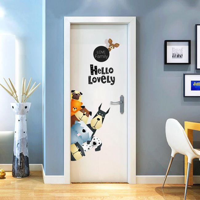 Uvítací samolepka na dveře 1