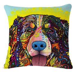 Kutya párnahuzat élénk színekkel - 23 minta