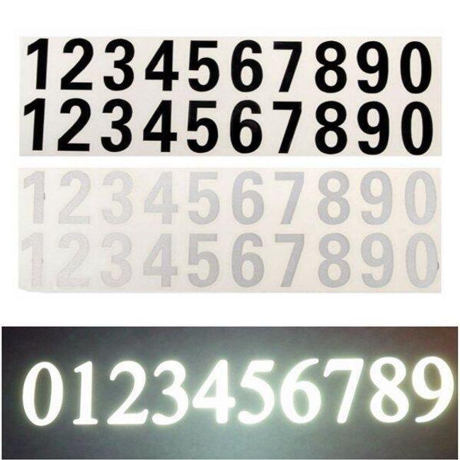 Autó matrica - számok 1