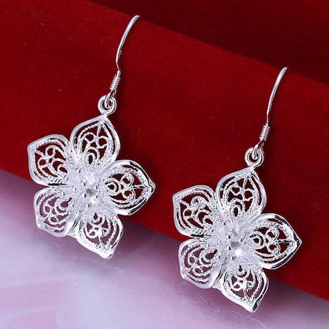 Kolczyki - srebrne kwiaty 1