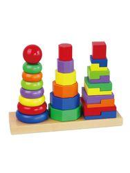 Drvene piramide u boji za decu RW_32857