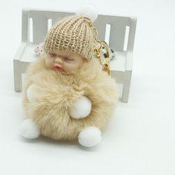 Chlupatá klíčenka - Spící miminko - hnědá barva