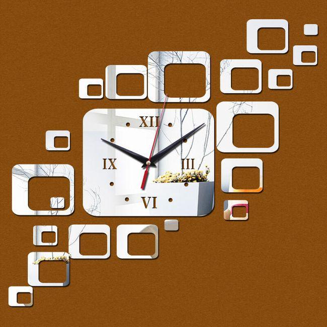 Nástěnné hodiny - čtverečky 1
