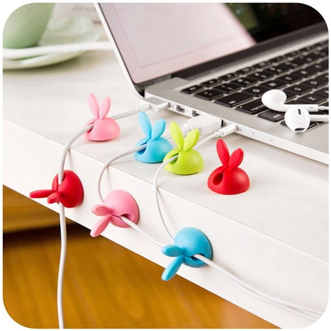 Nyuszi fül - kábel szervező - 4 darab 1