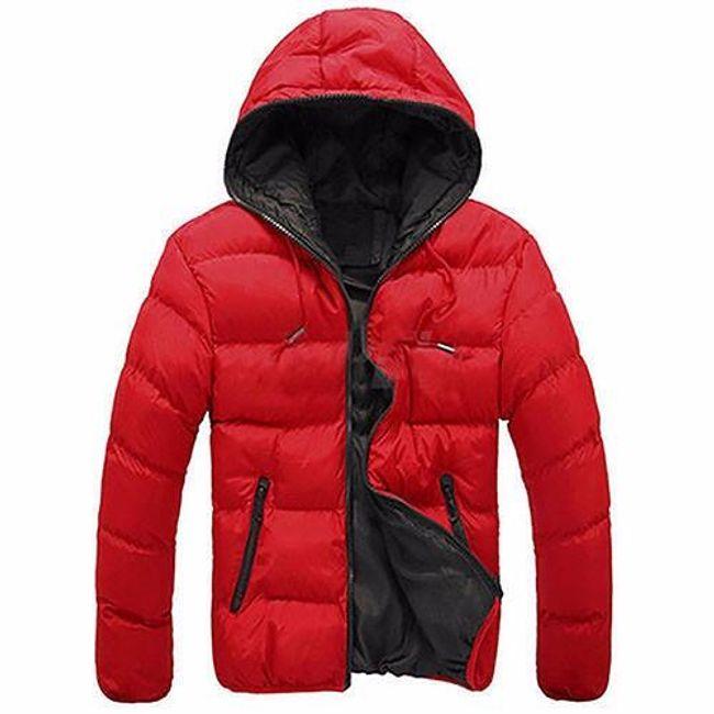 Pánská lehká bunda Santo s kapucí - Červená - velikost č. L 1