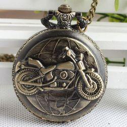 Zegarek kieszonkowy z motocyklem