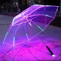 Przezroczysty parasol z podświetleniem