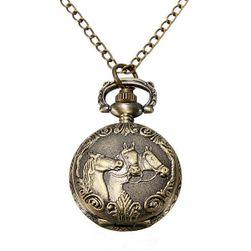 Карманные часы с изображением лошади
