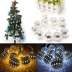 Sada 10 LED koulí na stromeček