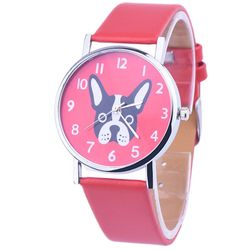 Стилен часовник френски булдог