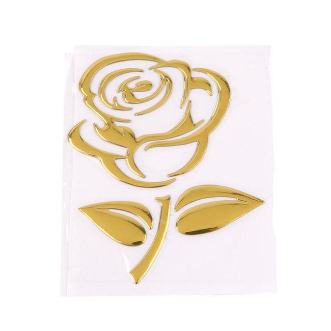 Nálepka na automobil - růže 1