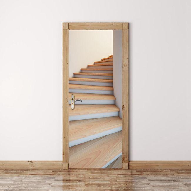3D samolepka na zeď - schody 1