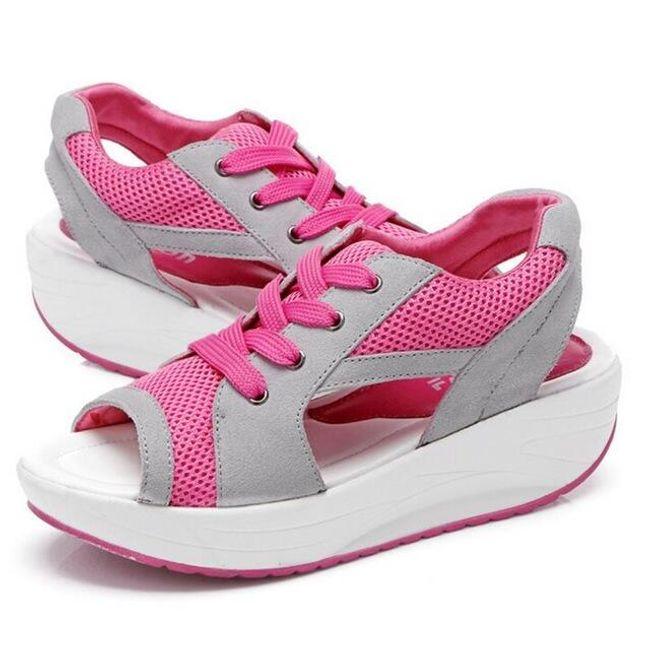 Dámské sandály na cestování - Růžová - vel. 39 1