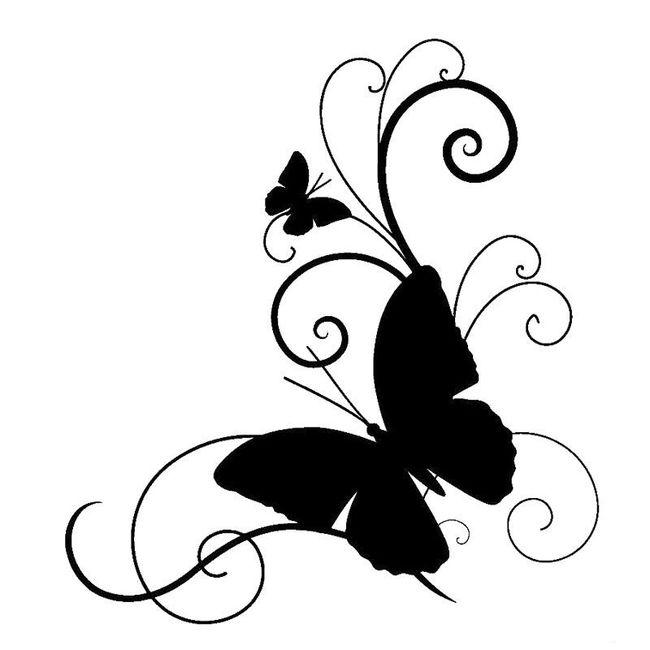 Naklejka z motylami 1