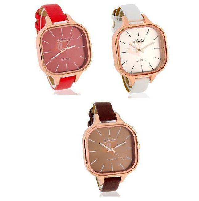 Elegantní dámské analogové hodinky - na výběr ze tří barev 1