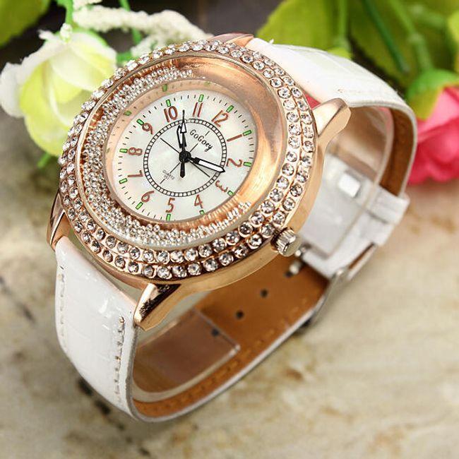 Damski elegancki zegarek z błyszczącymi kamyczkami - 3 kolory 1