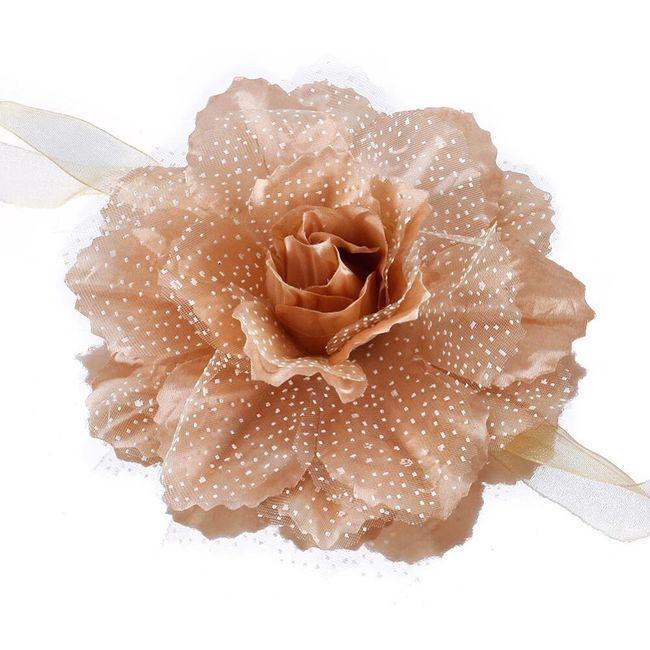 Klip na závěsy v podobě květiny - 6 barev 1