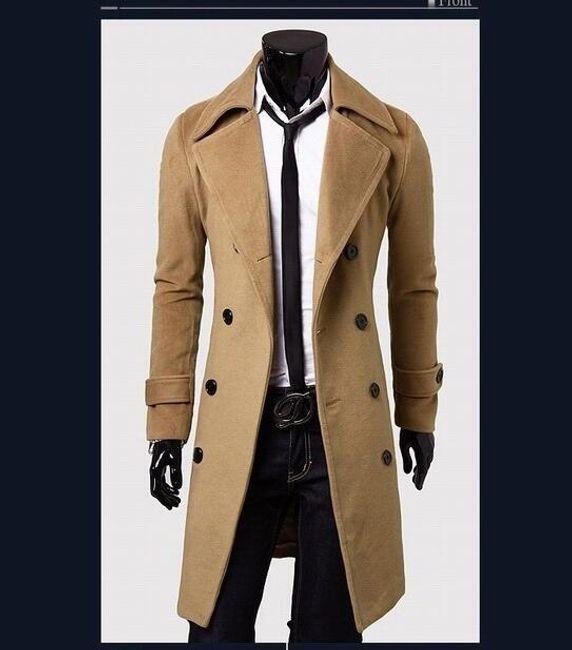Pánský kabát Giorgio - Béžová-M 1