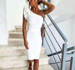 Ženska haljina na jedno rame Sigi